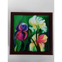 Irises My Delight, Keepsake Box