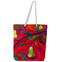 Cardinals In A Pear Tree, Tote Bag